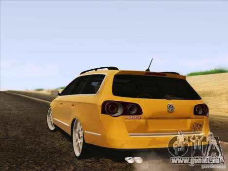 Volkswagen Passat B6 Variant pour GTA San Andreas salon