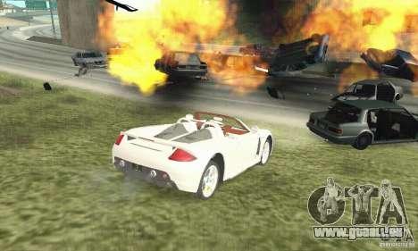 Porsche Carrera GT 2003 pour GTA San Andreas sur la vue arrière gauche
