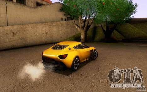 Aston Martin Zagato V12 V1.0 für GTA San Andreas Innen