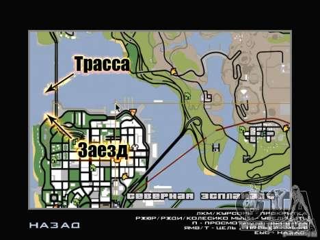 New Drift Track SF pour GTA San Andreas neuvième écran