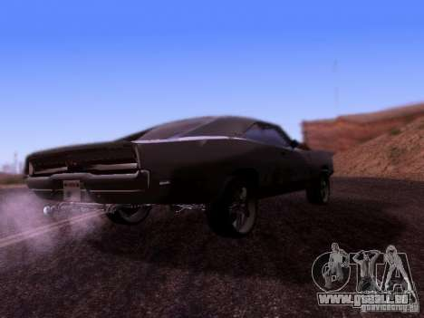 Dodge Charger 1970 Fast Five pour GTA San Andreas vue de droite