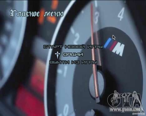 Video-Hintergründe im Menü für GTA San Andreas her Screenshot