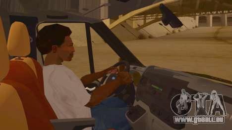 Ford Transit CNN pour GTA San Andreas vue intérieure