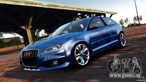 Audi S3 2010 v1.0 für GTA 4 Rückansicht