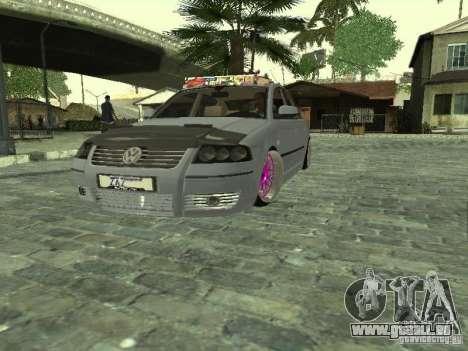 VW Passat B5 Dope pour GTA San Andreas vue de droite