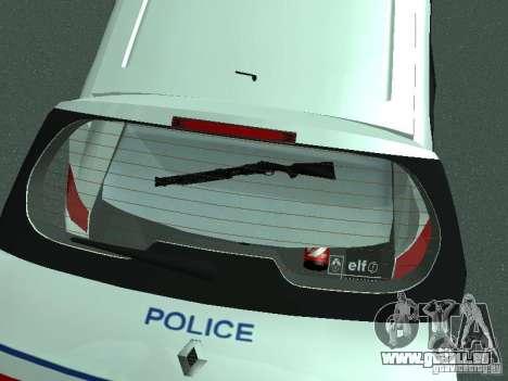 Renault Scenic II Police pour GTA San Andreas vue de dessus