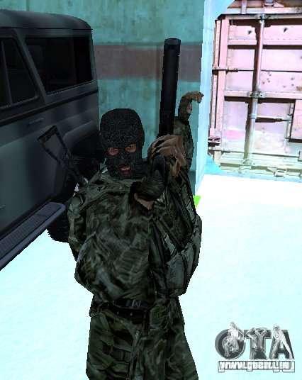 Stalker-Shadow of Chernobyl SWAT OGSE für GTA San Andreas zweiten Screenshot