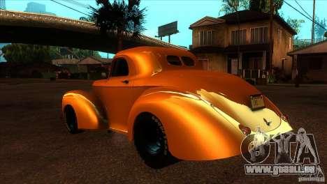 Americar Willys 1941 für GTA San Andreas zurück linke Ansicht