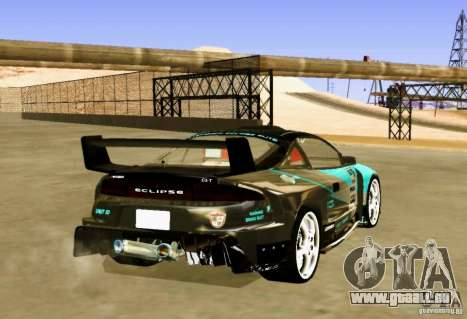 Mitsubishi Eclipse Elite pour GTA San Andreas sur la vue arrière gauche
