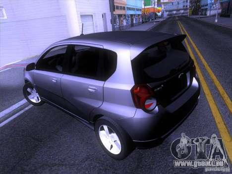 Chevrolet Aveo LT für GTA San Andreas zurück linke Ansicht