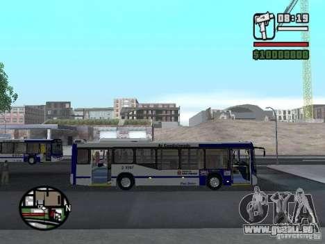 Busscar Urbanuss Ecoss MB 0500U Sambaiba pour GTA San Andreas vue arrière