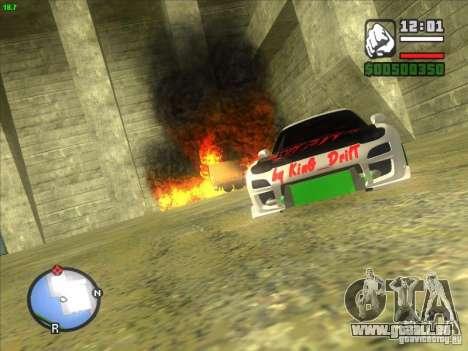 Mazda RX-7 Drift Version für GTA San Andreas Rückansicht