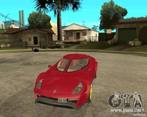 Lancia Stratos Fenomenon für GTA San Andreas Rückansicht