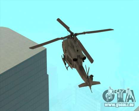 UH-1 Iroquois für GTA San Andreas zurück linke Ansicht