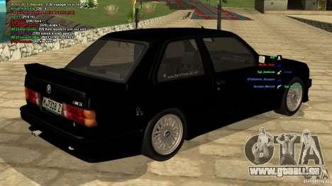 BMW M3 E30 1989 für GTA San Andreas linke Ansicht