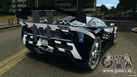 McLaren F1 ELITE Police [ELS] pour GTA 4 Vue arrière de la gauche