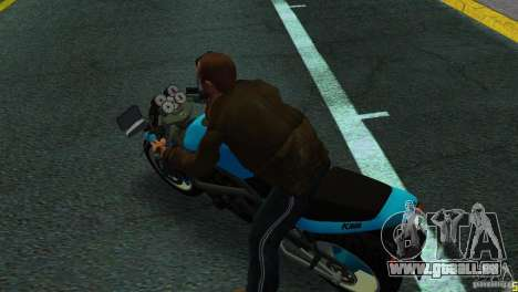 PCJ 600 pour une vue GTA Vice City de la droite