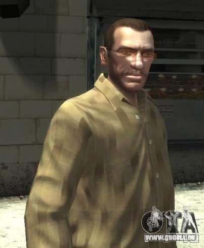 Nouvelles lunettes pour Niko-pink pour GTA 4 secondes d'écran