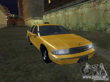 Chevrolet Caprice 1993 Taxi pour GTA San Andreas