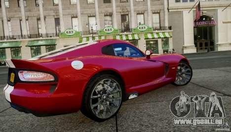 Dodge Viper GTS 2013 für GTA 4 hinten links Ansicht