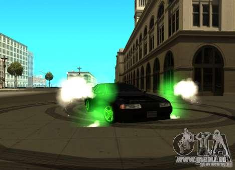Elegy Green Drift für GTA San Andreas linke Ansicht