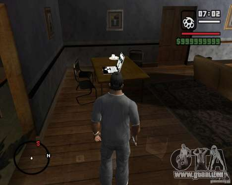 La possibilité de jouer sur un ordinateur portab pour GTA San Andreas
