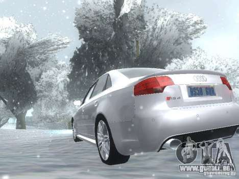 Audi RS4 für GTA San Andreas Rückansicht
