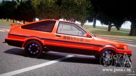 Toyota AE86 TRUENO Initial D pour GTA 4 est une vue de dessous