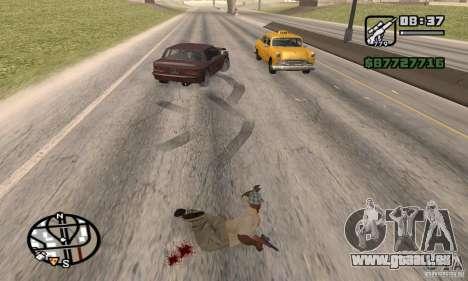 La perte de vies lors de l'écrasement pour GTA San Andreas quatrième écran