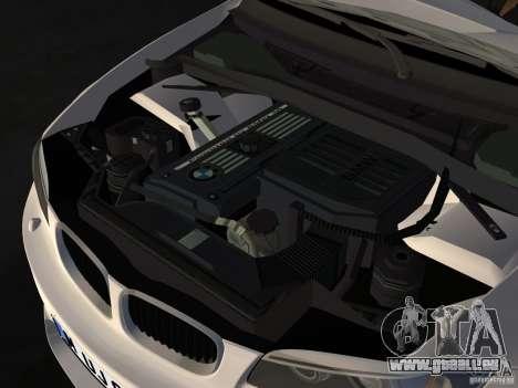 BMW 1M Coupe RHD pour une vue GTA Vice City de l'intérieur
