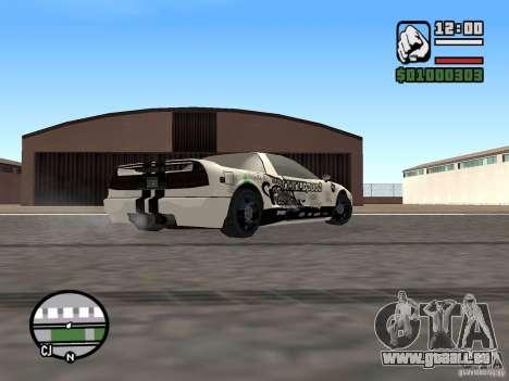 new Infernus Skin pour GTA San Andreas sur la vue arrière gauche