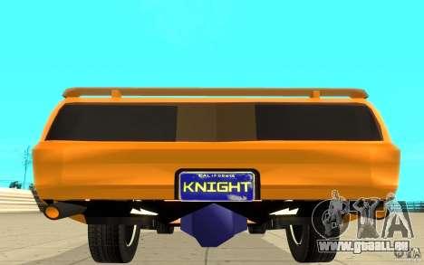 Pontiac Firebird 1989 K.I.T.T. für GTA San Andreas Rückansicht