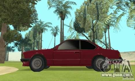 BMW M6 E24 stock pour GTA San Andreas laissé vue
