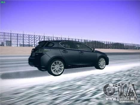 Lexus CT200H 2012 pour GTA San Andreas vue intérieure