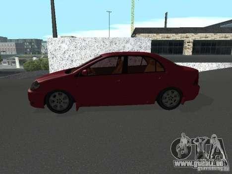 Toyota Corolla Sedan für GTA San Andreas linke Ansicht