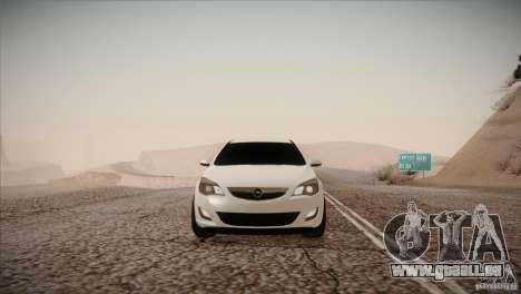 Opel Astra 2010 für GTA San Andreas Rückansicht