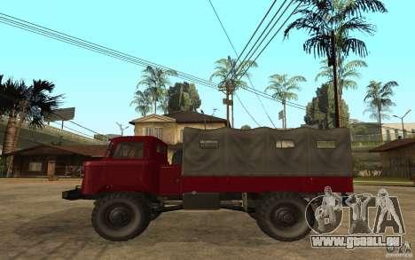 GAZ 66 pour GTA San Andreas laissé vue