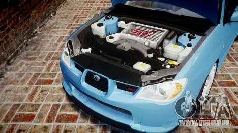 Subaru Impreza WRX STI Spec C Type RA-R 2007 für GTA 4 Innenansicht