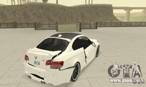 BMW M3 2008 Hamann v1.2 pour GTA San Andreas vue de dessous