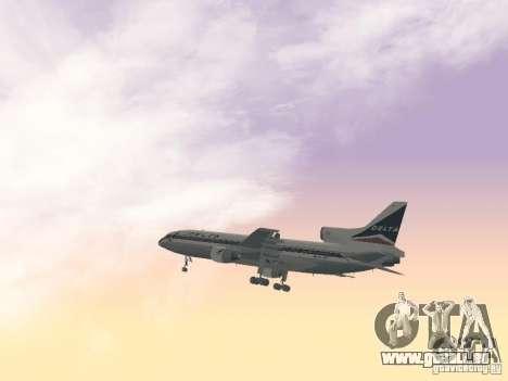 L1011 Tristar Delta Airlines für GTA San Andreas Seitenansicht