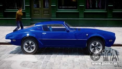 Pontiac Firebird Esprit 1971 pour GTA 4 est une vue de dessous