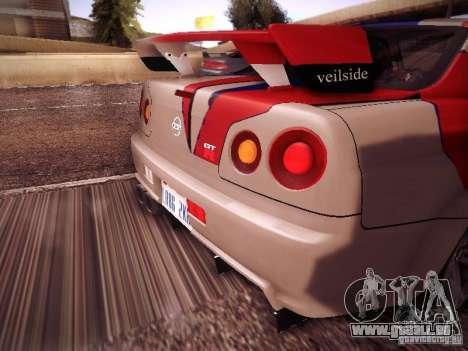 Nissan Skyline full tune pour GTA San Andreas vue de droite
