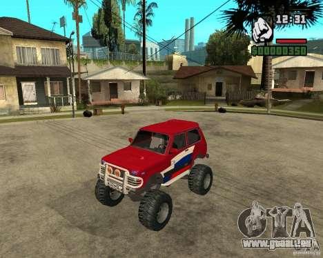 VAZ-21213 4x4 Monster für GTA San Andreas zurück linke Ansicht