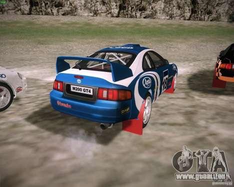 Toyota Celica ST-205 GT-Four Rally pour GTA San Andreas sur la vue arrière gauche