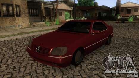 Mercedes Benz 600 Sec pour GTA San Andreas vue intérieure