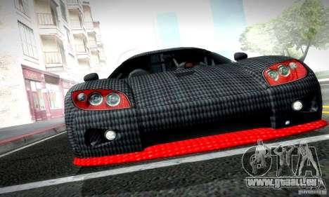 Koenigsegg CCX für GTA San Andreas zurück linke Ansicht