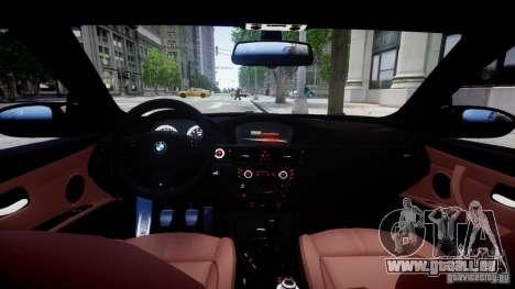 BMW M3 E92 ZCP 2012 pour GTA 4 est un droit