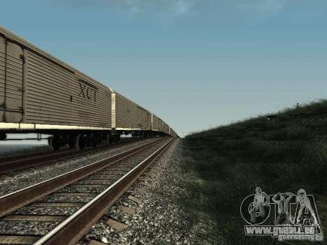 Wagon isotherme HST pour GTA San Andreas sur la vue arrière gauche
