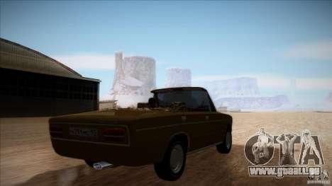 VAZ 2103 Convertible pour GTA San Andreas vue intérieure