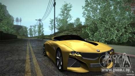 BMW Vision Connected Drive Concept für GTA San Andreas Rückansicht